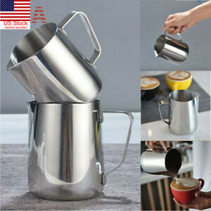 US-Stainless-Steel-Milk-Craft-Coffee-Latte-Frothing-Art-Jug-Pitcher-Mug-Kitchen