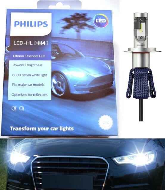 Philips Ultinon LED Kit 6000K White H4 Two Bulbs Headlight Replace Upgrade Stock