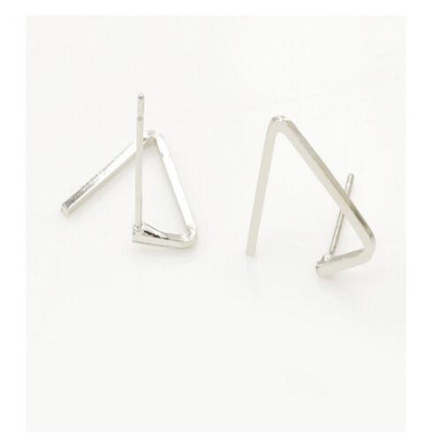 Earring Jewelry Ear Nail Copper Geometric Triangle Ear Stud Girlfriend Gift