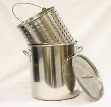 42 qt Quart 10 Gal Stainless Steel Stock Pot Steamer /Boil Basket Beer Brew Fry