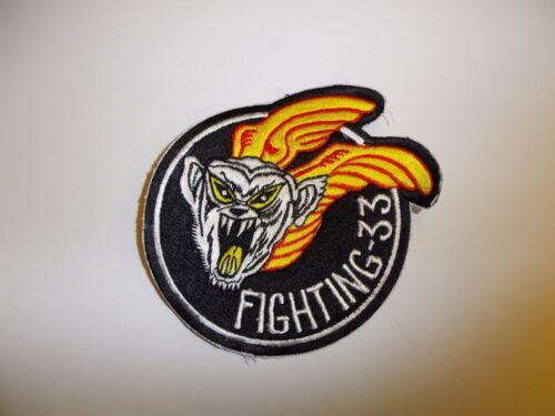b7218 WW 2 US Navy VF 33 Fighter Squadron Fighting 33 Hellcats IR27C