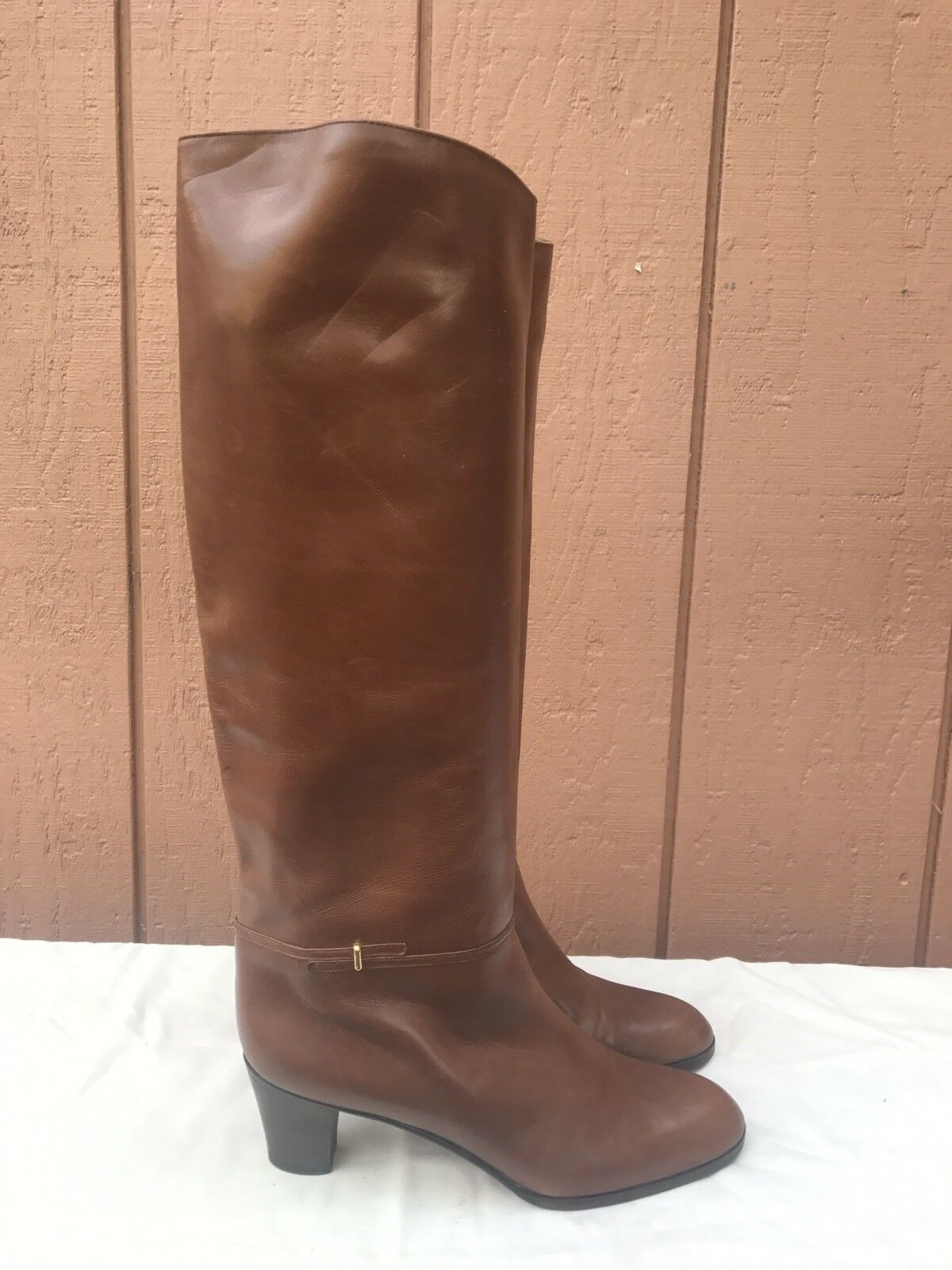 EUC RARE VINTAGE FRANK CARDONE NY US 6.5 BROWN LEATHER BOOTS WOMEN