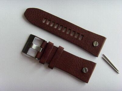 Willensstark Diesel Original Ersatzband Lederarmband Dz7314 Uhrband Braun Watch Strap 28 Mm GroßEr Ausverkauf