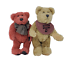 thumbnail 5 - 2-Vintage-Boyds-Bears-Bosley-Tan-and-Rare-Red-Toe-Boyds-Bear-Jointed-8in-and-9in