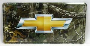 Chevrolet Realtree Camo License Plate Novelty Vanity Car Truck Tag Chevy GM