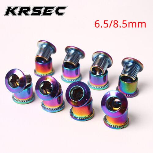 KRSEC 4//5PCS Single//Double//Triple Chainring Bolts MTB Road Bike Crankset Screws