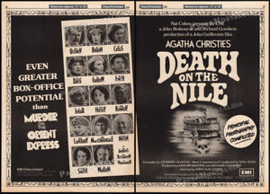 DEATH ON THE NILE__Orig. 1978 Trade AD / poster__AGATHA CHRISTIE__PETER USTINOV