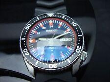 Vintage Seiko divers 6309 Auto XX MEGA MOD BB ORANGE SAPPHIRE CRYSTAL 150m K76