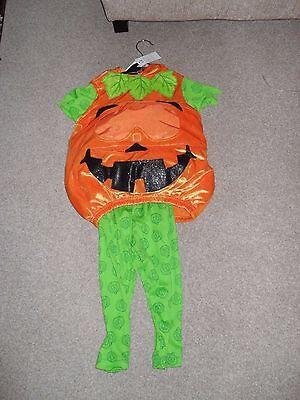 Qualità Al 100% Zucca Nuovo Di Zecca Halloween Outfit Età 1-2 Anni Da George-mostra Il Titolo Originale Meno Caro