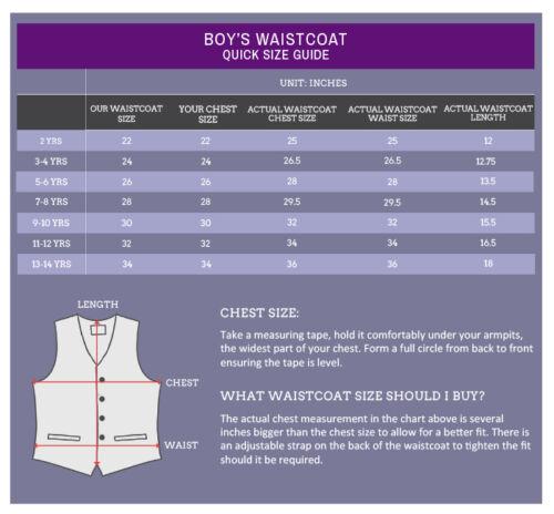 DQT Satin Plain Solid Silver Boys Wedding Waistcoat /& Cravat Set
