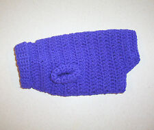Hand Crochet Royal Purple Dog Sweater for X-Small Pet