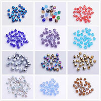 Wholesale 500pcs 4mm Bicone Faceted Glass Crystal Loose Spacer Beads 60 Colors