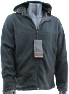 6e2dd5ec8 Details about HAWKE Mens Pro Series HOODED JACKET Zip Fastening BLACK Mid  Weight Knit Hoodie