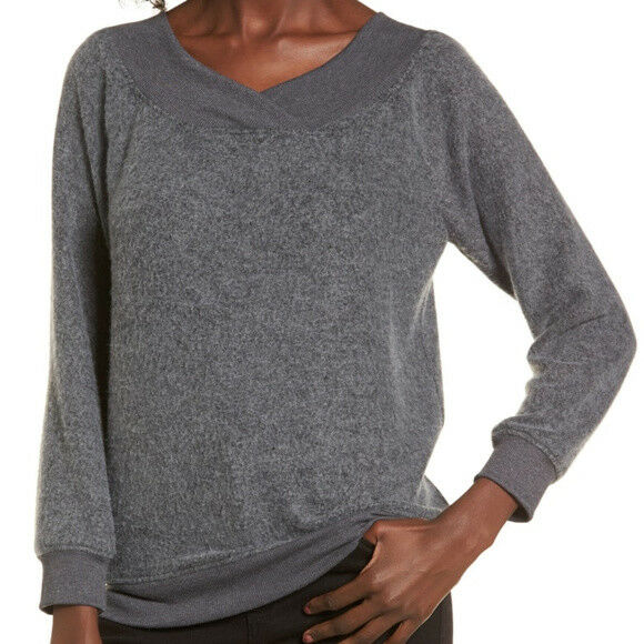 Socialite Super cozy soft Off the Shoulder Fleece Top xs=00