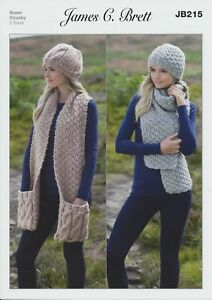Image is loading Ladies-Hats-amp-Scarves-Amazon-Super-Chunky-Knitting- f387667193d