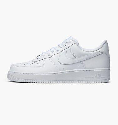 Scarpe Nike Air Force one 1 white bianche nere alte basse 315123 111 315122 111