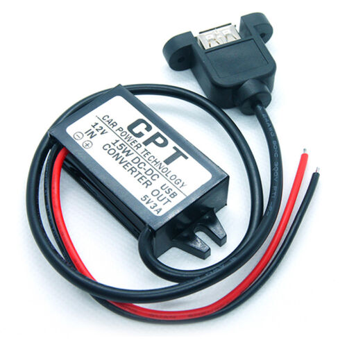 DC 12V To 5V 3A 15W USB Output Power Adapter Converter Module For Car Boat BPBHH