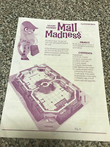 Mall-Madness-Milton-Bradley-Game-Replacement-7-pg-Instruction-sheet-booklet-2004