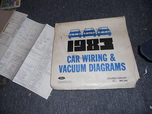 1983 Ford Tempo Mercury Topaz Wiring Diagrams Manual Se