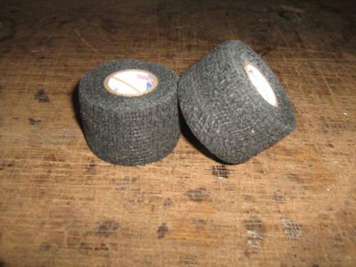 """2 Rolls of Black Flex Stretch Grip Pro Tape 1.5/"""" x 30/'"""