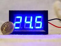 Blue Led 3 Digit 2 Wire Voltmeter 3-30v Car Rv Bench Dc Volt Panel Meter Usa