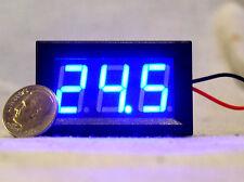 1 New Blue Led 3 Digit 2 Wire Voltmeter 3 30v Car Rv Bench Dc Volt Panel Meter