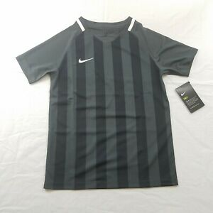 NIKE US SS STRIPED DIVISION II SOCCER JERSEY Med Anthracite/Black/White (2018)