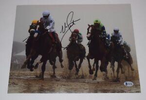 Mike-Smith-Signed-Autographed-11x14-Photo-JUSTIFY-JOCKEY-Triple-Crown-BAS-COA