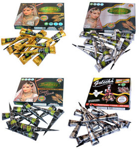 Herbal-Henna-Ink-Natural-Black-Mehandi-Cones-Temporary-Tattoo-kit-Body-Art-Paint