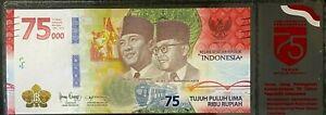 Nouveau-75000-Rupiah-Billet-UNC-2020-Indonesie-75eme-Anniversaire-Comm