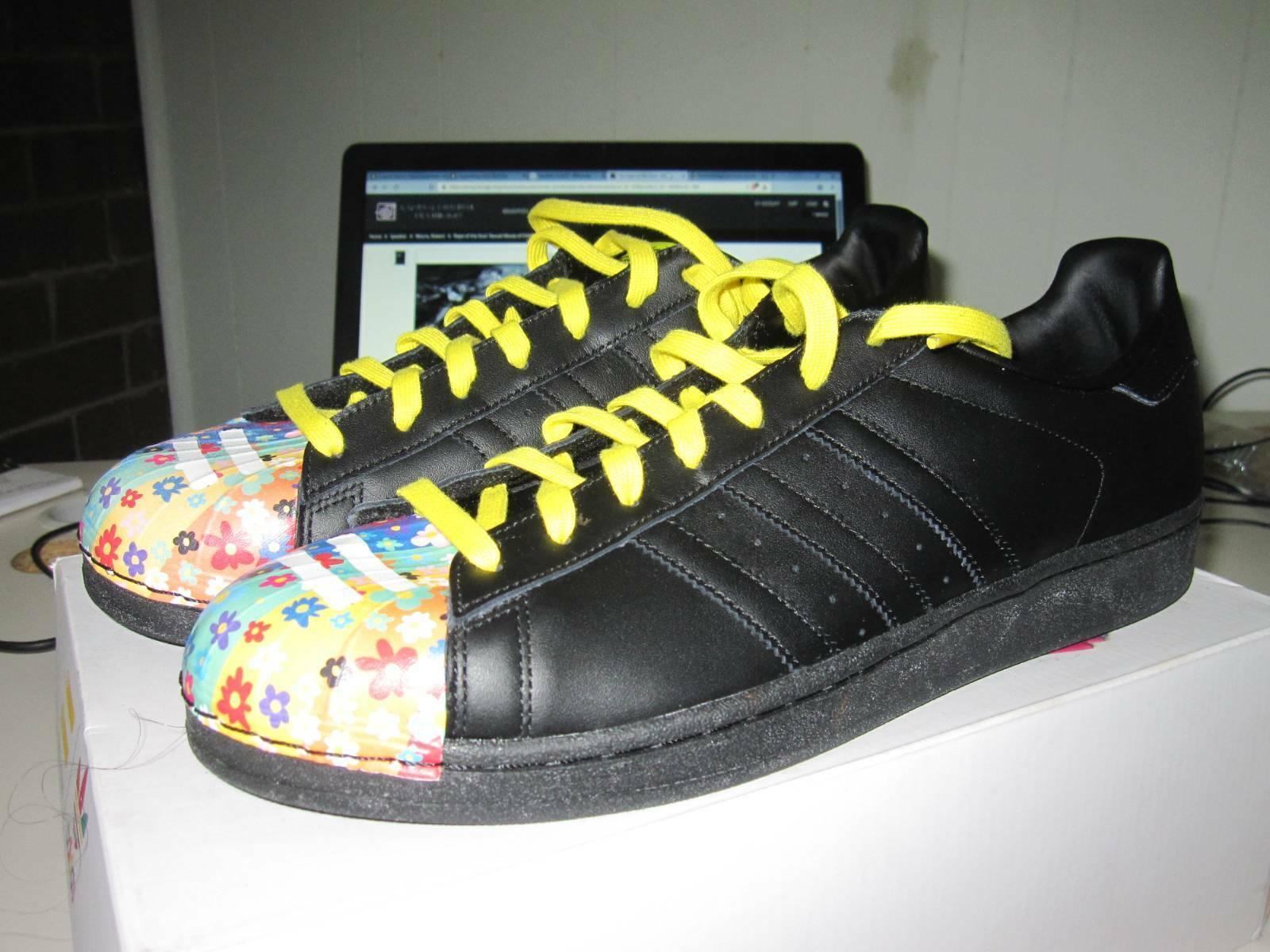 Pharrell Superstar Adidas Shell dedos de los pies US13 Nuevo