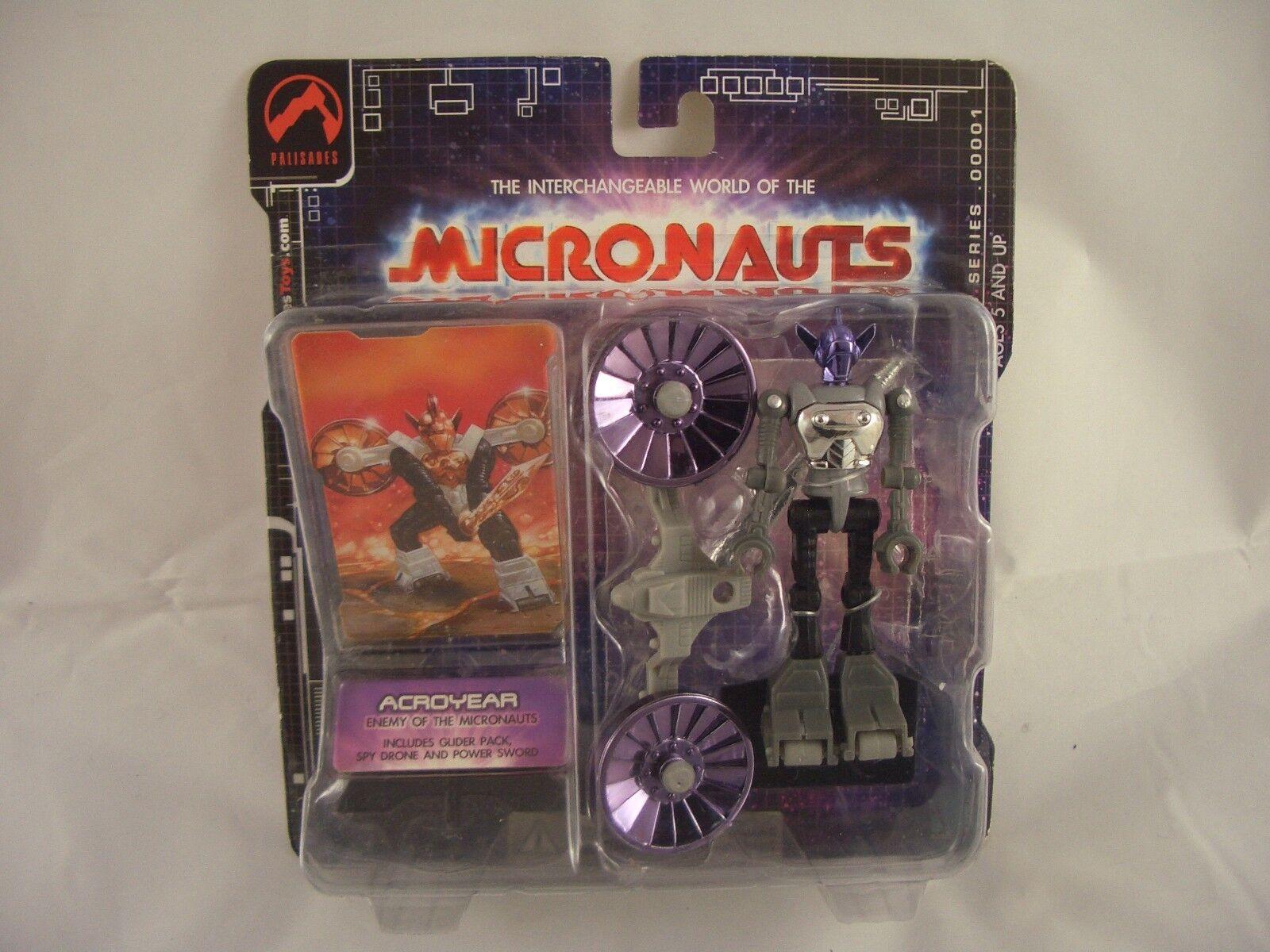 MICRONAUTS  PALISADES Retro Series Acroyear lila/Grau Action figure