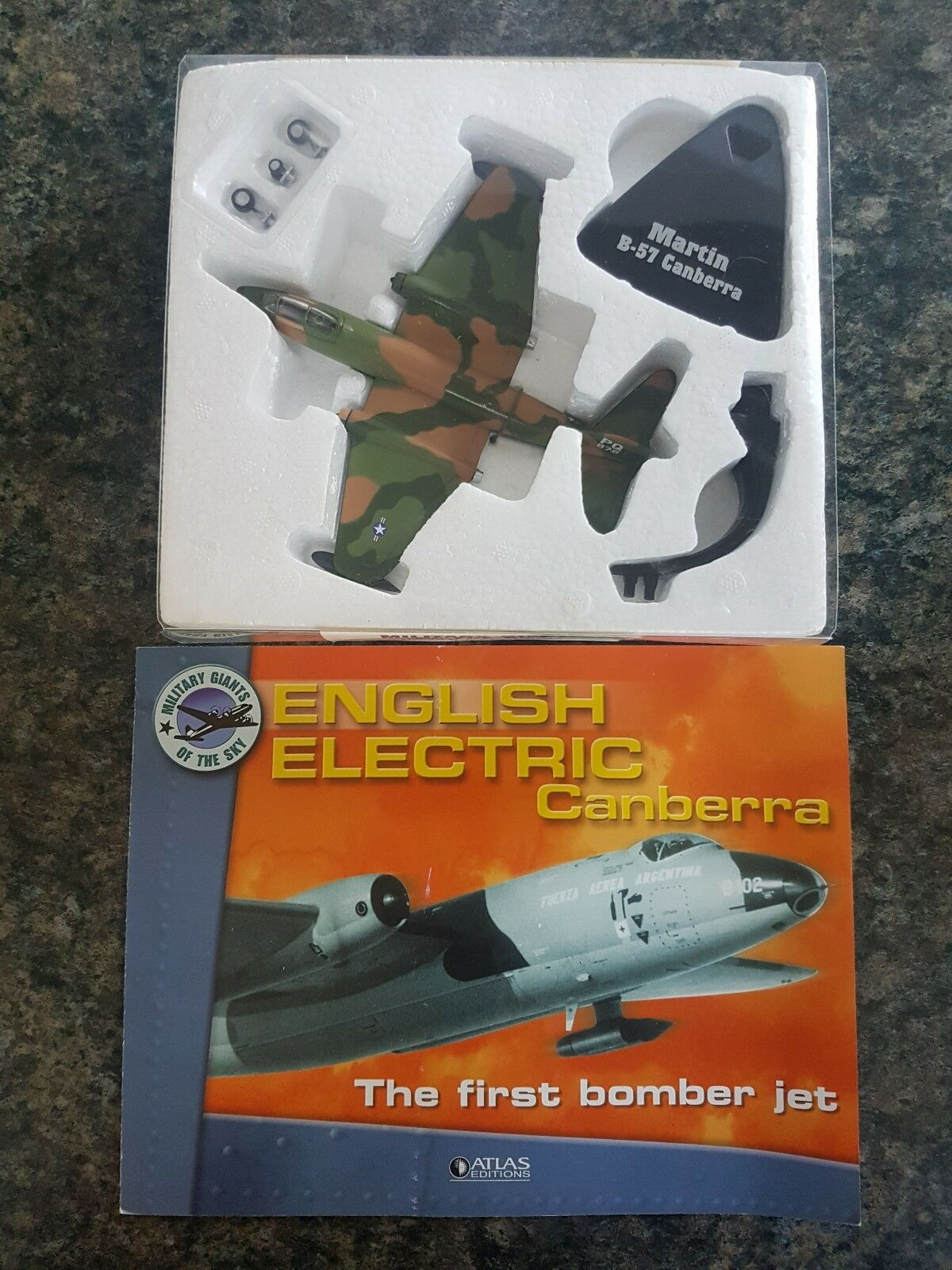 Atlas Editions 1 144 Martin B-57 Canberra US Jet Bomber Great Condition Rare