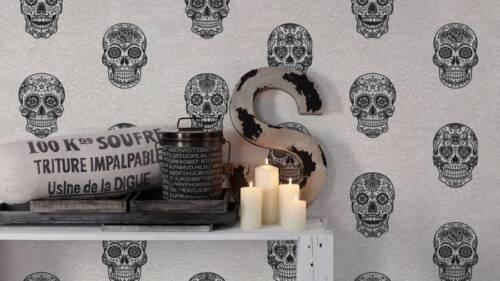Mexikanische Totenköpfe Club Tropicana 35817-1 EUR 3,05//qm //Tapete Totenkopf