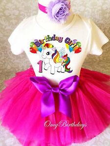 Image Is Loading Unicorn Little Pony Horse Rainbow Baby Girl 1st