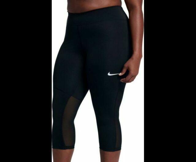 Black Mesh Nike Tight Fly Victory Power Capri Training Leggings 1x Plus Size For Sale Online Ebay