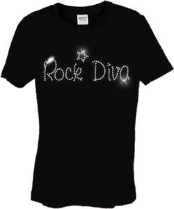 Rock DIVA Children&#039;s Camiseta Cristal Estrás Diseño De Baile.. Niños Cualquier Tamaño  </span>