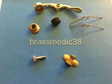 Four 4 Raw Brass Tuba Finger Button w 8-32 Threads fits modern Conn King plus