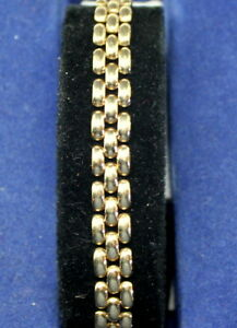 Nice-Heavy-14K-Yellow-Gold-Unisex-7-034-Bracelet-Double-Clasp-Safety-11-2-grams