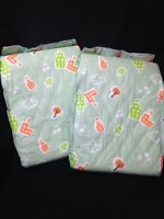 Fab Sense Green Plastic Adult Diaper Abdl 2 Pack Sample City Print Imported