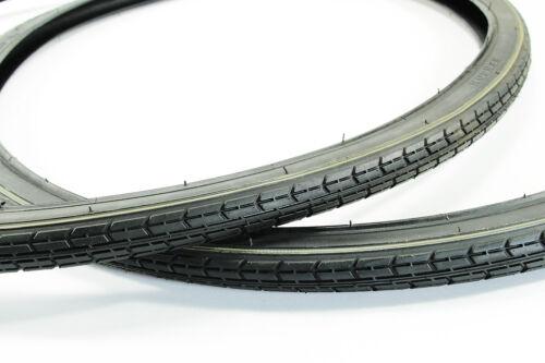37-622 2x Fahrradreifen schwarz 28 ZOLL NEU Fahrradmantel 1 3//8 x 1 5//8