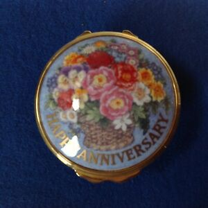 English-Royal-Worcester-Patch-Trinket-Snuff-Ring-Box-HAPPY-ANNIVERSARY