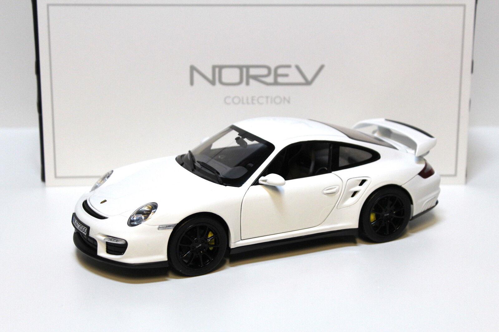 1 18 Norev Porsche 911 (997) gt2 blanc 2007 NEW chez Premium-modelcars