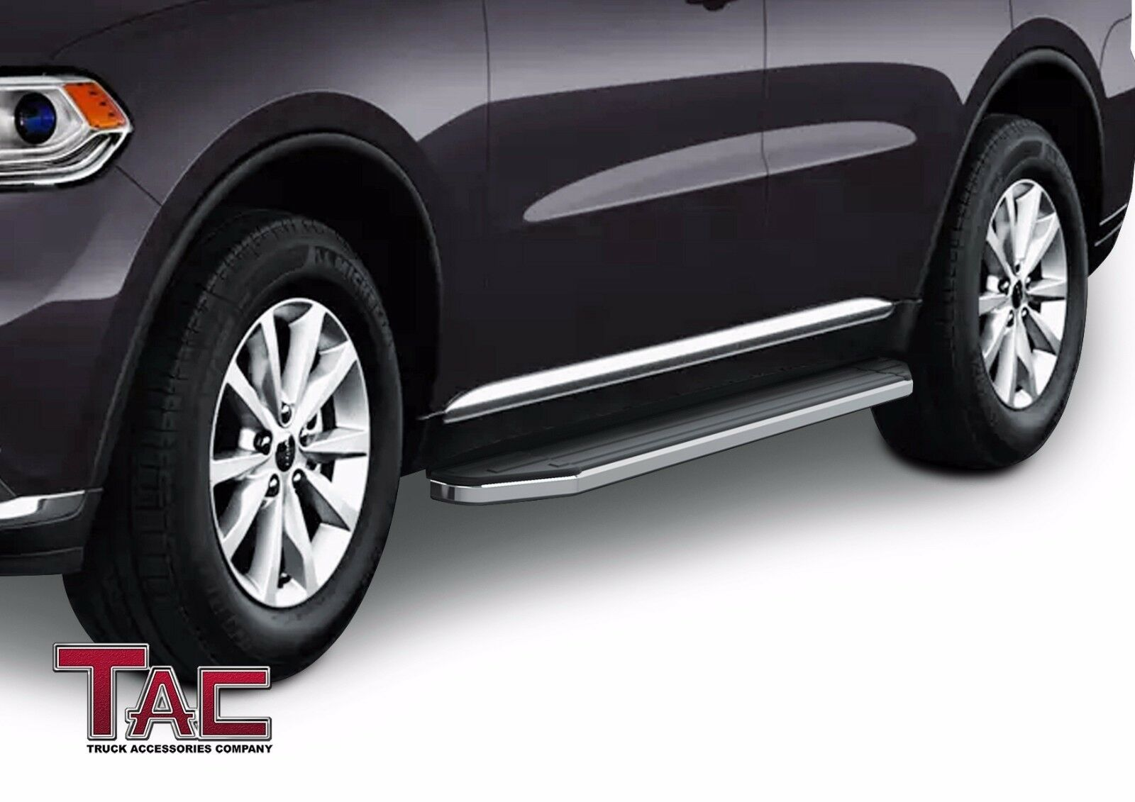 Tac Running Boards Fit 2011 2020 Dodge Durango Suv Aluminum Black Side Steps Nerf Bars Step Rails Running Boards Rock Panel Off Road Exterior Accessories 2pcs Excl R T Gt Gt Plus And Srt