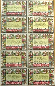 1920-039-Dutch-Dope-039-Greeting-Postcards-w-Sayings-in-Dutch-Accent-Set-of-TEN
