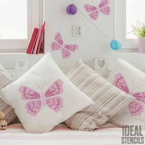 AuBergewohnlich Das Bild Wird Geladen Schmetterling Kinderzimmer Wand Dekoration  Schablone Malen Heim DEKOR
