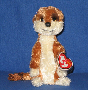 e3efba8f02d TY FLOWER the MEERKAT BEANIE BABY - UK EXCLUSIVE - MINT with MINT ...