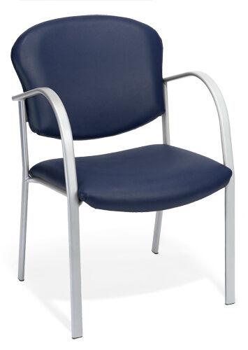 OFM MODEL 414-VAM BLUE VINYL STACKABLE RECEPTION GUEST SIDE OFFICE CHAIR