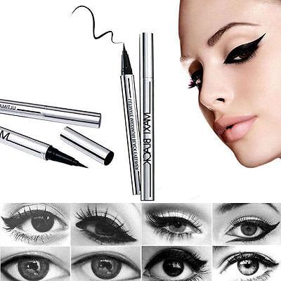Delineador De Ojos Líquido Impermeable Lapiz Cosmético Maquillaje Negro Eyeliner