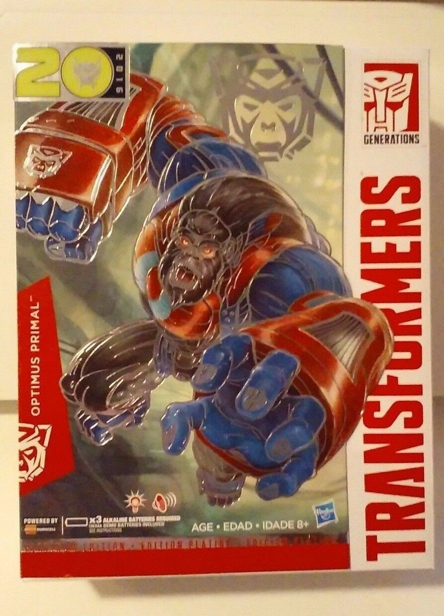Transformers Platinum Edition Optimus Primal 2016 Year of the Monkey New MISB